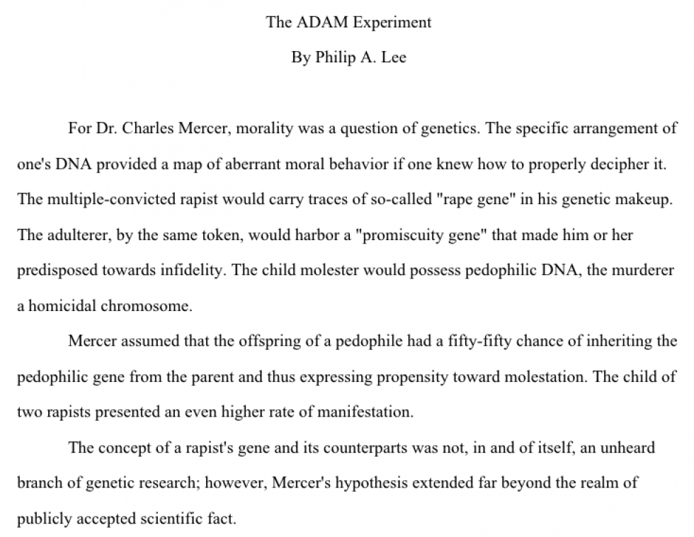 The ADAM Experiment