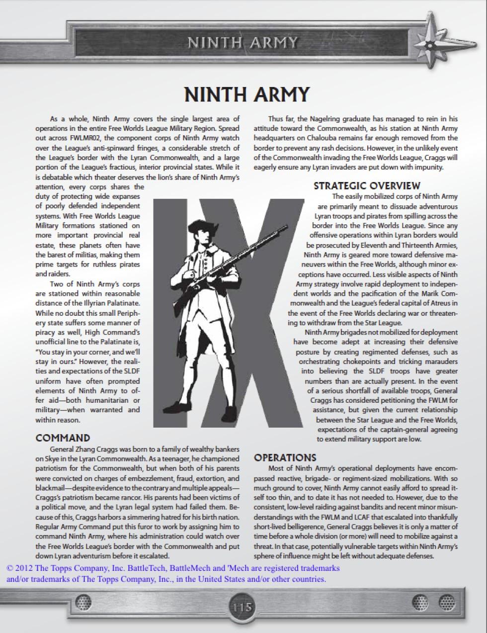 BattleTech: Field Manual SLDF – Writing sample