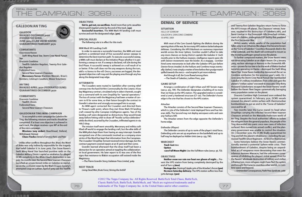 BattleTech: Total Chaos – Writing sample