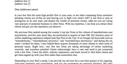 Sales Letter: Legal Contractor